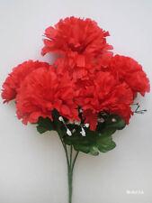 "1x 13"" CARNATION Bush Artificial Silk Flower Plant /C05"