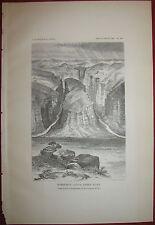 Grand Canyon Horseshoe Canyon Green River Utah 1881 Antique Print