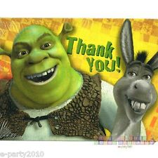 SHREK 2 THANK YOU NOTES (8) ~ Birthday Party Supplies Dreamworks Thanks Cards