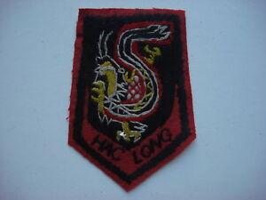 "ARVN 5th Marine Battalion ""HAC LONG"" BLACK DRAGON Vietnam War Hand Sewn Patch"