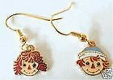 Raggedy Ann Earrings Jewelry and Andy Dangle Cloisonne Fishhook Fitting Anne