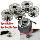 Set of 5 Bobbin + 1 Bobbin Case For BROTHER JANOME SINGER Sewing Machine Parts