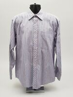 Ted Baker London Men's Dress Shirt Size 16 - 34 / 35 Blue Purple Stripe