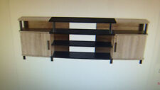 """AMERIWOOD HOME CARSON 70"""" TV STAND WEATHERED  OAK"""