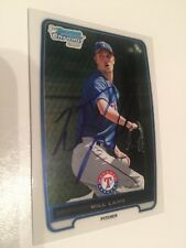 WILL LAMB TEXAS RANGERS AUTOGRAPHED CARD