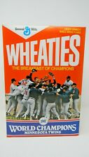 Wheaties 1987 World Champions MN Twins-  Full Unopened