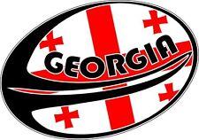 Sticker decal rugby world cup sport car flag ball macbook georgia georgian