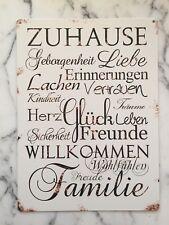 Blechschild / Dekoschild / Wandschild mit Schriftzug NEU