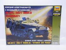 "LOT 14315 Zvezda 3625 Sd.Kfz. 251/1 Ausf. B ""Stuka zu Fuss"" 1:35 Bausatz NEU OVP"