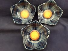 Temptations Blue Flower Bowls set of 3