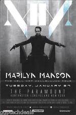 MARILYN MANSON Concert Handbill Mini Poster NY 2015 Black Veil Brides