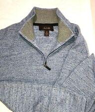Tasso Elba Men's knit Shirt Pullover size XL 1/2 Zip Light Blue 100% Cotton