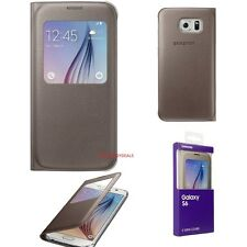 Genuine SAMSUNG S VIEW FLIP CASE SMARTPHONE GALAXY S6 G920F BOOK COVER ORIGINALE