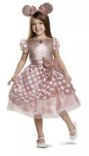 Girls' Minnie Mouse Deluxe Rose Gold  Dress Up S (3-4T)