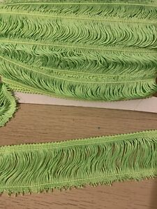 bright Green silky trim for dress making, upholstery trim 6cm wide--