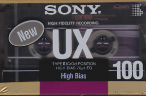 NEW SONY UX 100 CASSETTE TAPE (CrO2) High Bias - FAST FREE U.S. SHIPPING