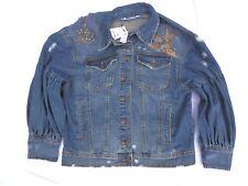 Zara Jean Denim Women's Trucker Jacket Coat Top Size S