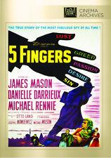5 Five Fingers 1952 (DVD) James Mason, Danielle Darrieux, Michael Rennie - New!