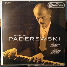IGNACE JAN PADEREWSKI the art of LP VG+ CAL-310 USA Mono 1s RCA Camden