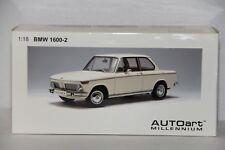 1/18 AUTOART BMW 1600-2 WHITE #75021 , NEW