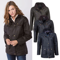 Rydale Ladies Wax Jacket with Elasticated Back Women's Waxed Cotton Coat