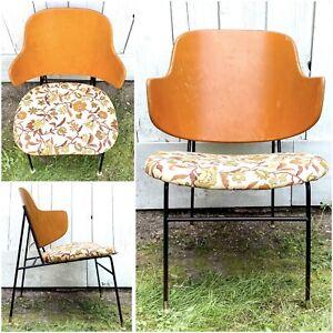Vintage Penguin Chair IB Kofod Larsen Selig Accent Chair Danish Modern MCM