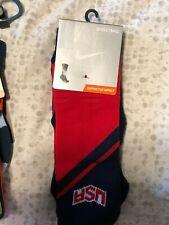 NIKE MEN'S SZ L (8-12) Hyper Elite USA Crew BASKETBALL DRI-FIT Socks SX4954-626