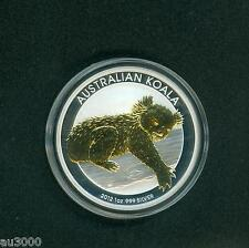 2012 ( 2012-P ) $1 AUSTRALIA GILDED GILT KOALA 1 Oz. SILVER with COA !!!!!!!
