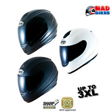 MT Thunder Motorcycle Crash Helmet Full Face Scooter Motorbike ACU Gold Approved