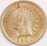 1901 Indian Cent Very Choice AU.  *RAW1155/BH