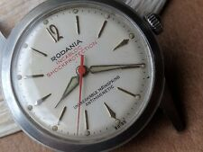 Vintage Rodania w/Cream Dial,Warm Patina,Diver All SS Case,Radium,AS 1430,Runs