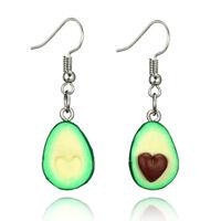 Cute Fruit Avocado Drop Tassel Earring Oval Heart Dangle Earrings Women  ^