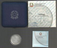 """REPUBBLICA ITALIANA - 10 Euro argento 2006 """"60° Unicef"""" FDC"""