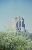 Vintage Photo Slide 1986 Devils Tower Wyoming