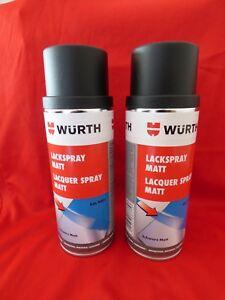 2x 400ml Sprühlack Schwarz Matt  Ral 90005 Spraydose Autolack Lackspray