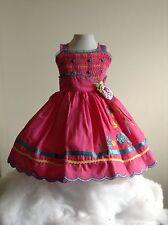 Baby Girl Dress Pink 12-18 Months Sleeveless Wedding Rococo Embroidered Birthday
