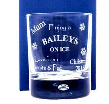 Vaso De Vidrio Personalizado Navidad Baileys Regalo Para Mamá/NaN/Nanny/Abuela/Nana