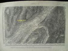 Carte d'État-Major Albertville Sud-Ouest 1893