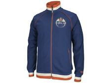 EDMONTON OILERS CCM JACKET ZIP-UP TRACK JACKET NHL ZIPPERED JACKET MEN'S 2XL