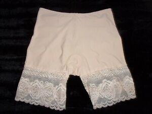 Ladies Pink Vintage Nylon Long Leg Knickers Size Large