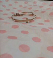Alex & Ani Cross Gold Bracelet Wrap Rare Retired