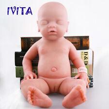 18'' Full Body Waterproof Silicone Reborn Doll Sleeping Baby Girl Birthday Gifts