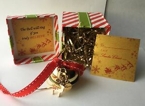 Large 40mm Polar Express Style I Believe Jingle Bell Santa Christmas Gift XMas