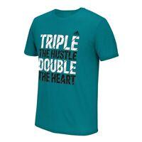 "Adidas ""Triple the Hustle, Double the Heart"" Men's EQT Teal Green T-Shirt"