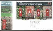 GB 2009 FDC Post Boxes 1st series,  Wakefield W Yorks postmark Stamps