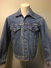 Vtg 70s 80s Levis 2 Pocket Blue Jean Jacket Type Iv Trucker Denim Lined Mens 40