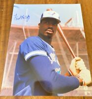 MINT authentic FRED McGRIFF autographed 8x10 color photo MLB Toronto Blue Jays