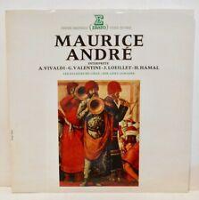 LP ERATO VIVALDI MAURICE ANDRE VALENTINI LOEILLET HAMAL TROMPETTE SOLISTES LIEGE