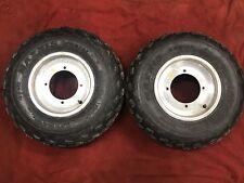 2006 Polaris Predator 500 Front Wheels Rims Tires Douglas 65% Tread Left  #2