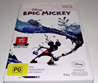 Disney Epic Mickey Nintendo Wii PAL *Complete* Wii U Compatible